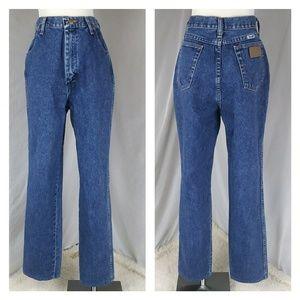 Wrangler high waist vintage blue jeans mom denim